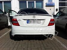 Painted Gloss Black Mercedes C-Class W204 Couple 2D Boot Lip Spoiler  UK SELLER