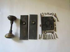 Complete Yale Mortise Vintage Door Latch,Lock,Knobs,Key,Plates,2-3/4 in.backset