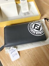 Fendi FF Ziparound Leather Wallet