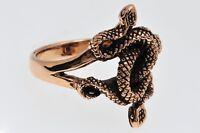 Snake 2 Schlangen Ring Bronze Gothic Schmuck - NEU