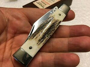 Queen Steel Knife Large Gunstock Sambar Stag 1970's Limited Edition Wolverine