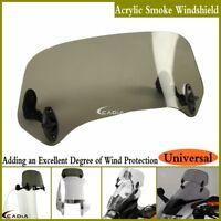 Motorcycle Adjustable Windscreen Spoiler Windshield Wind Air Deflector For Honda