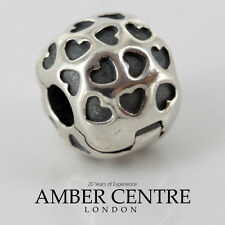 Genuine PANDORA Silver Unique Love Heart Clip Charm 791037 RRP£45!!!