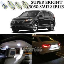 For Honda CRV 2007-2012 Xenon White LED Interior Light kit + License Light 10PCS