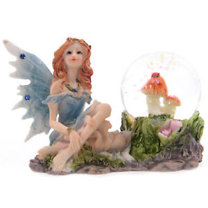 Flower Fairy Butterfly Unicorn Snow Globe Fairies Glass Water Ball Ornament