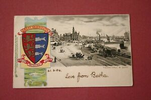 Tuck Heraldic Series - Great Yarmouth, Town Hall and Quay - posted 1904