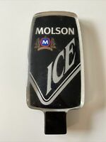 "Molson Ice Beer 6"" Bar Tap Handle Acrylic Lucite Plastic Black Home Pub Clear"