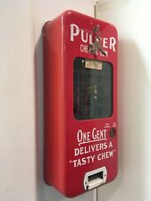 Pulver red gum machine with policeman holding stop sign, keys included