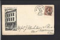 WHEELING,WEST VIRGINIA,1886,#210 ILLUST BUILDING AD COVER, WM SCHWERTFEGER