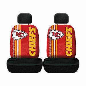 Kansas City Chiefs Set of 2 Rally Print Seat Covers