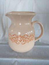 FRANCISCAN Gingersnap Pottery Large Pitcher Carafe Vintage 1970s 64oz EUC