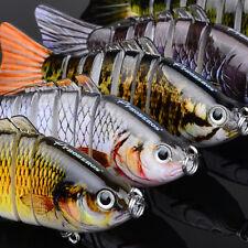 Bass Stirper Fishing Bait Hook Lure Swimbait Multi-jointed Life-like Panfish New
