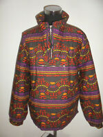 vintage WEST fashion Jacke oldschool 90s Schlupfjacke crazy pattern blouson L