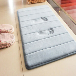 Absorbent Memory Foam Non-slip Carpet Bath Bathroom Floor Shower Mat Rug