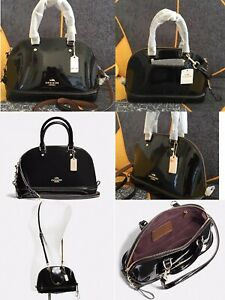COACH NWT MINI SIERRA SATCHEL IN PATENT LEATHER  F55445