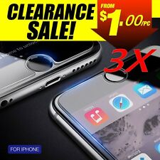 3X 9H Tempered Glass Screen Protector Film For Apple iPhone 8 Plus 7 6S 5S 4s LA