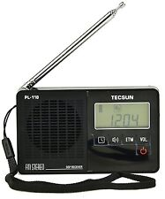 Tecsun Pl118 Mini-size Digital Pll Synthesized & Dsp Fm Clock Radio with Etm