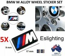 5x M TECH STICKER BADGE BMW STEERING WHEEL ALLOY RIM M3 M5 M6 E36 E46 E60 E90