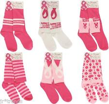Breast Cancer Awareness Pink Ribbon Knee Socks Set of 6 Pair - Plenty to Share!