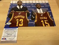 Kyrie Irving & Tristan Thompson Dual Autographed Signed 8X10 Photo PSA/DNA COA