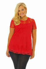 Lace Classic Neckline Short Sleeve Tops & Blouses for Women