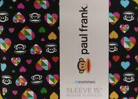 "15"" Paul Frank Monkey Multi Hearts Julius Neoprene Computer Sleeve MacBook New"
