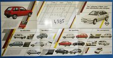 N°4385  /  dépliant gamme OPEL ASCONA,KADETT,CORSA....  GM SUISSE