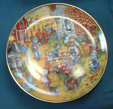 "Franklin Mint ""A Purrfect Feast"" Porcelain Plate #La5261 by Bill Bell Coa"