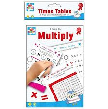 Learn to Multiply Practice Times Table Wipe Clean Worksheets With Pen Home Help