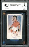 1979 World Of Sport #3 Muhammad Ali Boxing Card BGS BCCG 9 Near Mint+