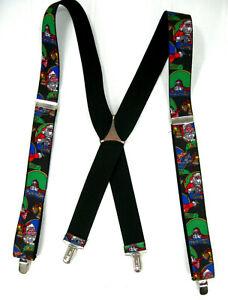 Pelican USA Mens Christmas Santa North Pole Suspenders Braces Clip On X Frame