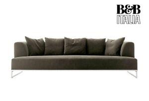 B & B ITALIA Solo Designer Sofa Klassiker grau mit Bank