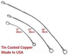 "(Multi Kit) Universal 8""+12""+18"" Copper Ground/Bonding Straps,Tin/Zinc-Plated"