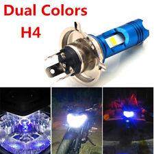 Dual Colors LED Motorcycle Headlight Driving Light Fog Lamp  12v COB H4 Hi/ Low