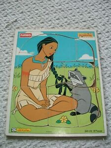 "Playskool Frame Tray Puzzle ~ Disney ~ Pocahontas ~ 9 1/2"" x 11 1/2"""