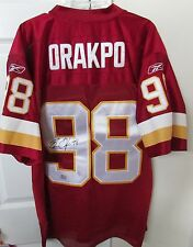 NFL Washington Redskins Brian Orakpo #98 Jersey New Signed Autographed Size 50