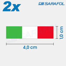 2x italia bandera pegatinas (nº 097) Italian flag sticker italia Italy 4,0x1,0cm