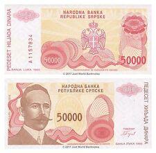 Bosnia & Herzegovina 50000 Dinara 1993 P-150 BANCONOTE UNC