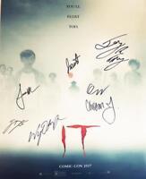 IT 7X CAST signed 16x20 Poster Finn Wolfhard Jack Dylan Grazer JSA COA 477 418