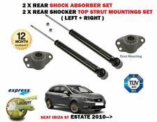 FOR SEAT IBIZA ST Estate 2010-> 2x REAR SHOCK ABSORBERS SET + 2X STRUT MOUNTINGS