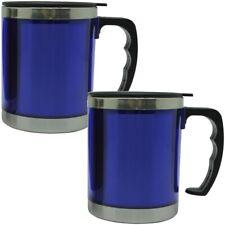 2x Thermo Mug 450ml Stainless Steel Insulated Mug Car Mug Drinking Cup Mug Blue