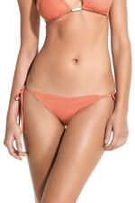 NWT $97 DNU-Vix Swimwear Laser Cut Side Tie Bikini Bottoms Peach Size XS