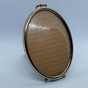 Vintage metal Oval Photo Frame 5 includes Original Design Gold color