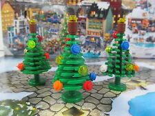 ☀️NEW LEGO Christmas Tree Lot (X3)  with decorations - backdrop not included