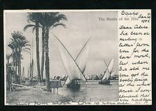 Egypt The Banks of the NILE Used 1905 u/b PPC