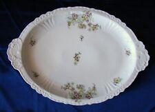 Grand plat porcelaine Jean POUYAT Limoges décor floral 1858 47,7 x 33.3cm H4.5cm