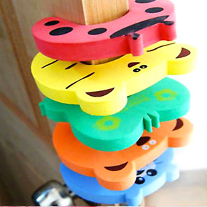 5X Foam Door Stopper Baby Child Kids Safety Animal styler Finger Protector Guard