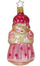 Inge Glas Owc 1030 Girl in Pola Dot Dress German Glass Christmas Ornament