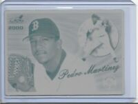 1/1 PEDRO MARTINEZ 2000 PACIFIC AURORA PRINTING PLATE HOF BOSTON RED SOX 1 OF 1