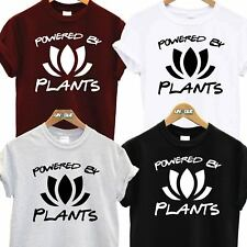 POWERED BY PLANTS T SHIRT VEGAN EAT TEE VEGETARIAN ANIMAL LOVER FASHION TUMBLR